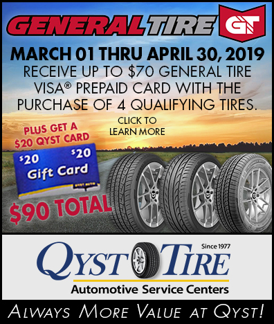 Qyst Tire 2019 General Tire Promo $70 Visa Gift Card