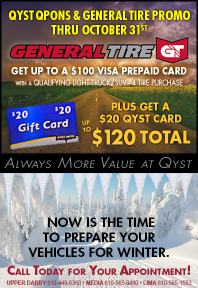 QYST Coupons and General tire promo through 10/31/2020